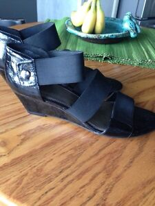 Cute Wedge Sandals, Sam and Libby, great condition, size 9,$8 Kitchener / Waterloo Kitchener Area image 1