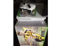 Xbox one s white with games n box