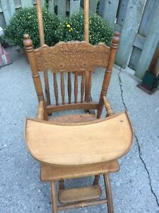 Antique wooden high chair  London Ontario image 3