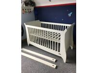 COT BED - mamas and papas orchard sleigh cotbed, Ivory