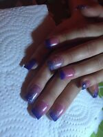 Pose d'ongles finition gel