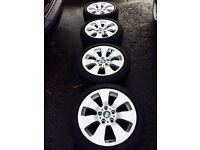 "Genuine BMW 17"" alloys with good tyres"