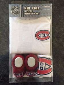 Authentic NHL Habs baby set