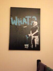 Banksy art canvas