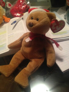 1997 Holiday Teddy Ty Beanie Baby Stuffed Animal