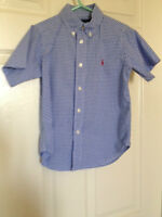 Boys 4T Ralph Lauren short sleeve button up shirt LIKE NEW!!!