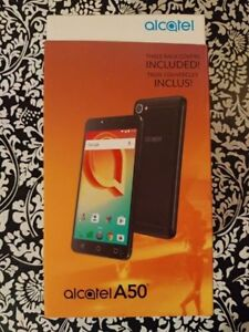 Alcatel A50 NEW unlocked with 3 modular back panels