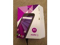 NEW Motorola Moto G (3rd gen.) 8gb- NEW in box inc cable & instructions RRP £130-150