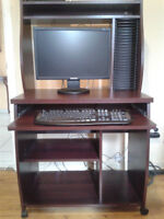 Computer desk and other items for sale.