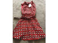 Dress from Collectif size 8 red with hearts.
