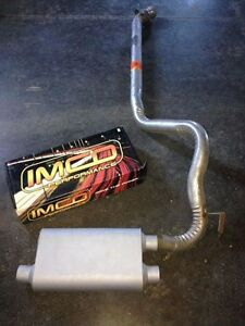 "3"" factory bent pipe with Imco Performance Muffler Peterborough Peterborough Area image 1"