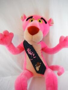 """Rare find, 42"""" Poseable Vintage 1996 Pink Panther Plush 1994 Tie"""