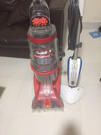 Vax Dual V Upright Carpet Washer and vax steam cleaner mop