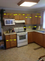 Complete kitchen, cabinets, counter, sink, faucet