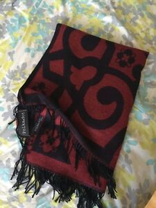 Red And Black Vintage Turkish Oversize Poncho Shaw