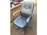 Leather effect office chair