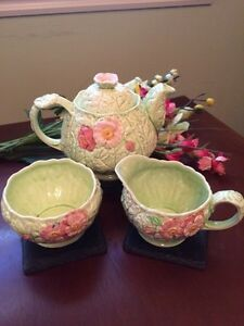Vintage Melba Ware Teapot Cream and Sugar