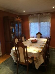 Dining table and cabinet set