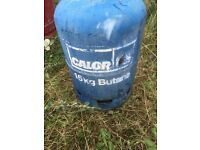Butane gas bottles x2 4.5kg bottles, x2 15kg