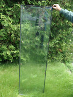 Decorative etched glass pieces 68x20x1inch thick