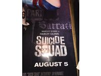 Suicide squad official 8ft tall collectors poster