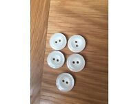 Set of five cream buttons *new*