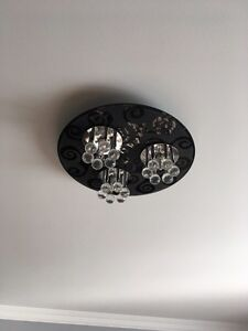 """Ceiling Light - Black - With Crystals - 16"""" - New West Island Greater Montréal image 2"""