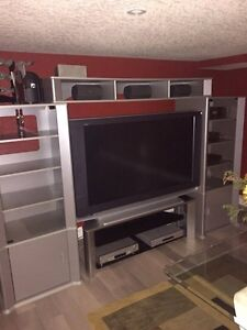 Silver tv stand