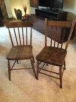 Assorted antique chairs