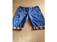 Medium new blue dress shorts