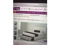 Double bed frame with large storage draw