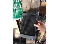 cbr125 rad and fan