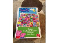 Peppa pig snakes and ladders game giant. frozen memory game