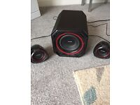 Philips surround sound sub and speakers