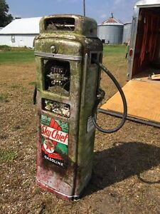 wanted old gas pump