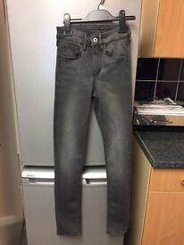 """Charcoal H&M regular waist jeans 24"""" waist Petite"""