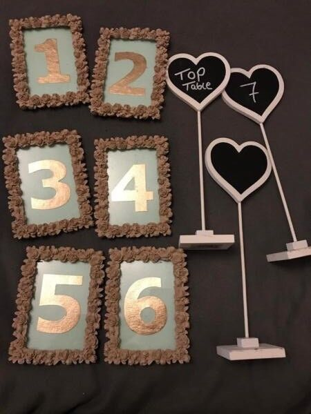 Wedding Table Number Frames In Bournemouth Dorset Gumtree