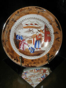 CHARMING VERY OLD HAND-PAINTED CHINA RELISH BOWL