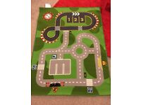 Ikea road track rug. Kids bedroom rug