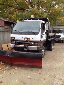 4x4 dump truck, 3 ton diesel,  Boss V plow & salter
