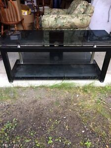 Heavy Duty Metal and Glass TV Stand