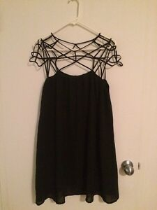 Cage shoulder dress - perfect for weddings, etc.