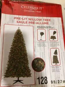 9 ft artificial Christmas tree