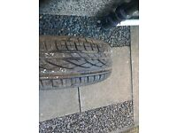 CONTINENTAL PREMIUM CONTACT TYRE AND STEEL WHEEL,SIZE 195/65/15 91H