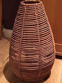 Wicker vase/dome £4