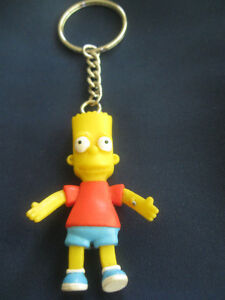 MEANINGFUL COLLECTIBLE '02 BART SIMPSON KEY RING