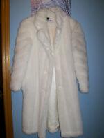 girls Faux Fur long coat