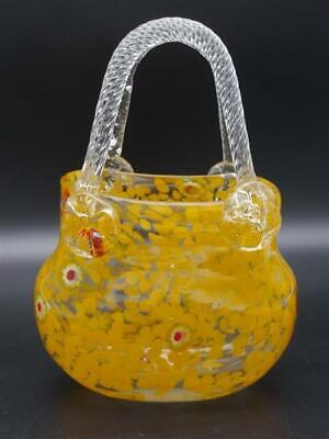 kleine orange Handtasche aus Glas Vase Glastasche Täschchen
