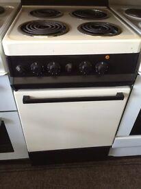 Cream & brown Creda 50cm electri cooker grill & oven good condition with guarantee bargain
