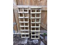 2 x Garden Trellis. Treated timber. Unused condition. As new. Fencing/Fencing repairs